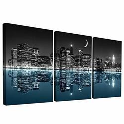 Wall Decor For Living Room Canvas Wall Art For Bedroom Black And White City L... $40.12