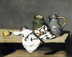 Still life with Kettle Paul Cezanne Kitchen Wall Art Decoration CANVAS Print SM $8.20