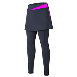 Cycling Pants Tight Bike Legging for Women with Skirted Women Riding Gel Padded $43.47