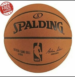 Official NBA Spalding Basketball Ball Game Indoor Authentic Leather 29.5 Sz ✔️✔️ $249.98