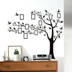 Family Tree Wall Art Stickers Removable Vinyl Black Trees Photo Wall Stickers US $10.95