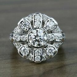 Antique Victorian Edwardian Engagement Ring 3.12 Ct Diamond 14K White Gold Over $141.86