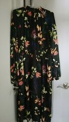 NWT A NEW DAY LONG DRESS BLACK FLORAL SIZE XXL MSRP $29.99 $12.99