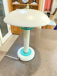 Tensor Desk Lamp off White with Green Glass Model: SLDLIA 3 way Touch $79.00