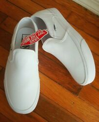 NWT Vans Off the Wall White Slip on Women#x27;s Size 8 WOW $49.99