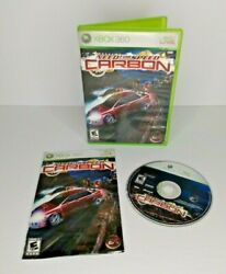 Need for Speed Carbon for Microsoft Xbox 360 CIB Complete 2006 Tested Works $19.99