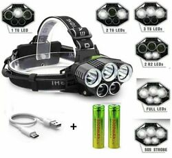 250000LM 5X T6 LED Headlamp Rechargeable Head Light Flashlight Torch Lamp USA $10.99