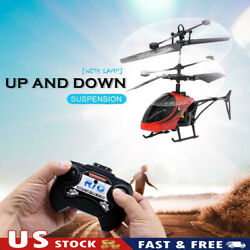 Mini USB Remote Control Helicopter Induction Aircraft RC Drone with Light SI $14.28