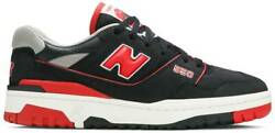 New Balance 550 Bred Black Red Size 10.5 BB550SG1 NEW WITH BOX $149.99
