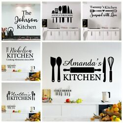 Diy Custom name Kitchen Wall Stickers Home Decoration Accessories For Decoration $7.36