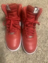 SUPREME X NIKE AIR FORCE 1 HIGH SP WORLD FAMOUS RED SIZE 11 VNDS $285.00