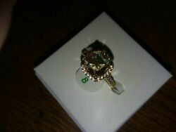 Ring Bomb Party Size 8 lab created topaz RBP2127 New w tag amp; bag $25.99