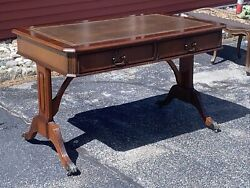 Mahogany Wood French Desk Writing Table Leather Top Regency $429.00