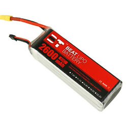 BEAT 6S 2600mAh XT60 LiPo Battery 65C 22.2V for RC Drone Helicopter Boat Truck $55.88