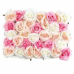 Flowers Wall Decor 3D Pink Flower Wall Panel 12quot;x16quot; Silk Rose Flowers for We... $32.87