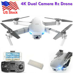 4K RC Drone Quadcopter Wide Angle Video Camera GPS Foldable Selfie WiFi1Battery $48.99