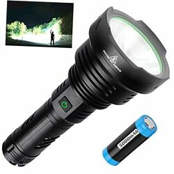 Rechargeable LED Tactical Flashlights High Lumens Super Bright 100000 Lumens $61.07