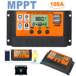 100A MPPT Solar Panel Regulator Charge Controller Auto Focus Tracking 60A 12 24V $19.97
