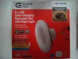 Commercial Electric 6 in. Selectable CCT LED Recessed Light Trim night light ft