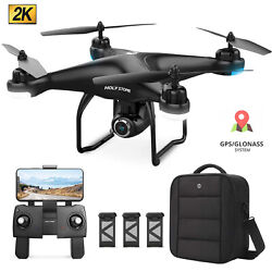 Holy Stone HS120D Drone with 2K FHD Camera GPS FPV Follow Me QuadcotperCase $19.99