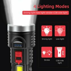 Multifunctional Super Bright 100000LM LED Torch Tactical Flashlight Rechargeable $13.99