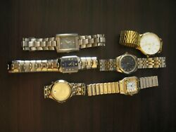Lot of watches mens for parts Lorus Pierre Cardin jaz DS Rosra metal bands $14.95