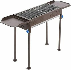 Outdoor Kitchen Charcoal Portable BBQ Grill Huge For Shish Kebab Stainless Steel $79.99
