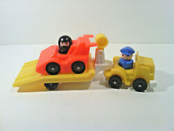 Fisher Price Vintage Little People Lot of 5 Complete Indy Racer #347 FP001 $31.50