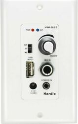 HERDIO In Wall Wall mount plate Bluetooth Audio Control Amp Receiver System NEW $59.99
