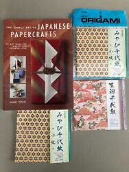 The Simple Art of Japanese Paper Crafts with Origami Paper 15x15cm Craft Lot $12.00