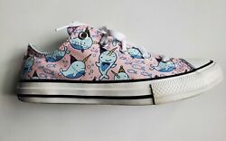 Converse All Star Kids Narwhal print sneaker girls Size 3 4 $50.00