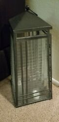 Large Metal and Glass Lantern With Door $25.00