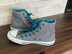 Converse All Star Womens Gray amp; Teal High Top Sneakers Size 6 $20.00