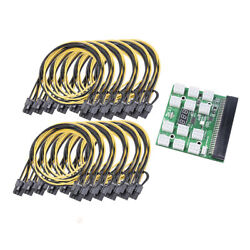 12 PCI E Connector Breakout Board for HP PSU GPU Mining with 50cm Cable 12pcs $36.13