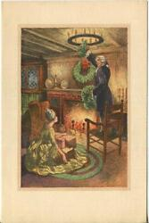VINTAGE CHRISTMAS VERSAILLES COTTAGE WREATH COSTUME WILLIAM MARK YOUNG ART CARD $2220.00