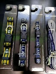 Official NFL Dog Collars amp; Leashes Green Bay Packers Dallas Cowboys $5.99