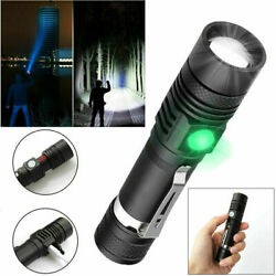 Super Bright 90000LM LED Tactical Flashlights Zoomable With Rechargeable Battery $9.99