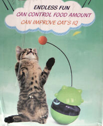 Pet Treat Ball Tumbler Feeder for Pet Cat Training Toy Control Food Amount READ $17.99