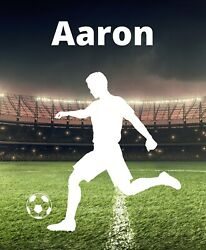 Soccer Decal Custom Name Wall Personalized Removable Vinyl Sticker $24.99
