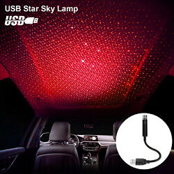USB Car Interior Roof Atmosphere Light LED Romatic Projector Star Sky Night Lamp $7.98