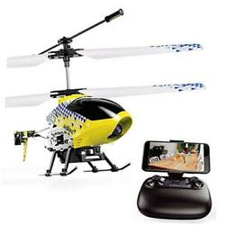 U12S Mini RC Helicopter with Camera Remote Control Helicopter for Kids Yellow $66.35