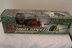 X 1 High Speed Radio Control Toy Helicopter Red Unopened in Box Model no. 9096 $61.00
