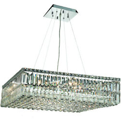 ASFOUR CRYSTAL FOYER KITCHEN LIVING DINING ROOM LIGHTING 12 LIGHT 32quot; CHANDELIER $3239.50