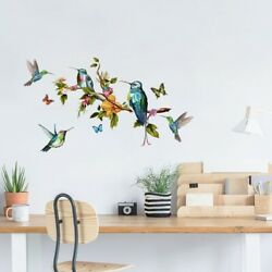 Multicolor Butterflies and Birds Stickers Flying on the Wall Living Room Bedroom $7.99
