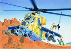 Italeri 14 1 72 MIL24 Hind D E Helicopter $25.49