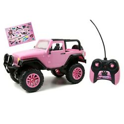 Jada Toys Pink Jeep Toy Remote Control GirlMazing 1 16 Scale Vehicle Car $44.35