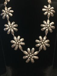 Fabulous Federico Jimenez Sterling Silver Engraved Etched Flower Necklace 141g $995.00