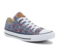 Converse All Star Women Denim with Roses Sneakers size 8 $39.00