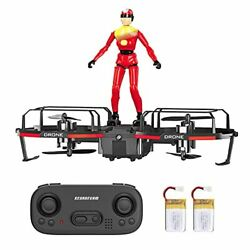 Mini Drone for Kids Beginners Adults Pocket RC Quadcopter 360°Flip red $20.03