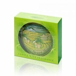 Handmade Decorative Wax Scented Unique Green Candle Tea Gift Home Décor $19.99